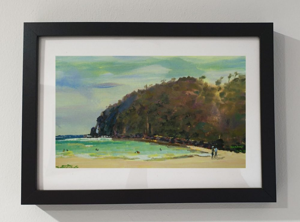 Boracay beach Philippines, gouache painting-1