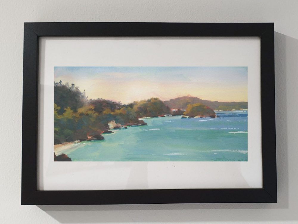 Boracay beach Philippines, gouache painting-3