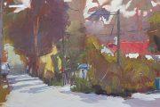 Kampong Buangkok, Singapore village painting-May2019